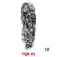 erkekler kadınlar için su geçirmez Geçici Dövme Çıkartma göz saat kuş Pagoda tam kol büyük boy sahte tatto flaş dövme kol tato