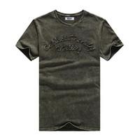Brief Jack Cordee Mode-T-Shirt Männer Brief gestickte Baumwolle T-Shirt-dünnes kurze Hülsen-Shirt O -Neck Tops Marken-T-Shirt Männer Trend
