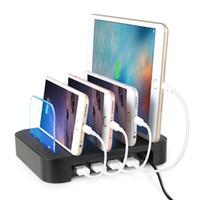 Смартфон Зарядное устройство 5V 6.8A 4 USB смартфон Планшет Подставка для зарядки, док-станция для быстрого зарядное устройство для Samsung S10 для iPhone X 11