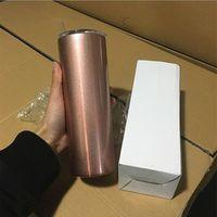 Copo de vinho isolado em ouro rosa Amazon hot 18 oz 20 oz 30 oz Copos de aço inoxidável de parede dupla 6 oz 12 oz Caneca de café refrigerada a vácuo
