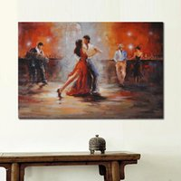 Wall art Portrait painting dancers Room with Tango Willem Haenraets Oil Paintings Hand painted abstract picture for living room decor