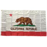 USA Staat Kalifornien-Flagge 3x5 ft Polyester Drucken Neue Staats-Flagge Fahne von Amerika US-Qualitäts-Fliegen Hängen Flags Drop Shipping