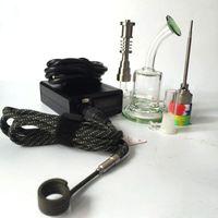 D Kit Nail elettrico E enail digitale Coil PID Tamponare rig con Heady Fab vetro uovo riciclatore bong Oil Rigs libero