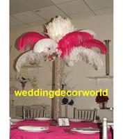 깃털은 포함하지 않는다) 타조 깃털 중앙 장식품은 결혼식 테이블 훈장을 위해 서있다 사건 당 decor1117