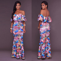 HIRIGIN 2017 Hot Femmes BOHO longue partie formelle Robes de bal d'été Floral Beach Girl Maxi Dress