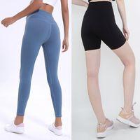 Cintura alta Gym Sports Wear Leggings Elastic aptidão Senhora geral completa calças justas Workout FX-5 cor sólida Mulheres calças de yoga