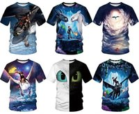 Moda de dibujos animados Toothless 3D T Shirt Dragon Master Impreso manga corta camiseta hombres mujeres Unisex Summer Tops Casual T-shirts Plus Size S-3XL