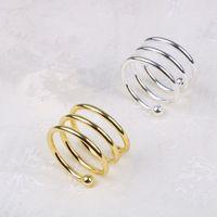 Metall vår servett ringar för bord kök servetthållare bröllop bankett middag juldekoration favor servett ringer eea326