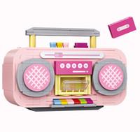 LOZ Netter rosa Recorder Building Blocks Modell, Mini DIY bauen zusammen pädagogisches Spielzeug, Ornament für Weihnachten Kid Geburtstags-Mädchen-Geschenk, Collect 1120, 3-3