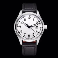 클래식 파일럿 마크 (18) 자동 기계 운동 손목 시계 40MM 다이얼 어린 왕자 뒤 표지 가죽 스트랩 패션 남성 시계