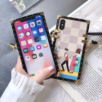 Lussuoso Fashion Show Phone Case per iPhone X XS Max Xr 8 7 6 Custodie Cover Perfettamente in forma per Samsung Galaxy S10 S10plus S9 S9plus S8 Nota 9 8