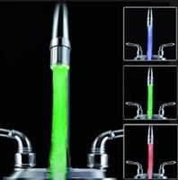 LED Su Musluk Işık 7 Renk Değiştirme Glow Duş Dokunun Allochroic Kafa Su Akışı Mutfak Banyo Aksesuarla J41