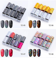 NA063 10Pcs Starry Sky Nail Foils Holographic Transfer Water...