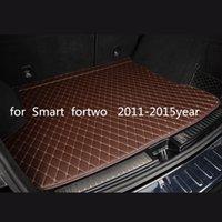 Individuelle Anti-Rutsch-Leder Auto Kofferraummatte Bodenmatte geeignet für Smart Fortwo 2011-2015year Auto Anti-Rutsch-Matte