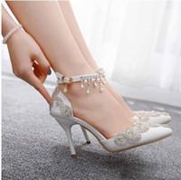 Zapatos de boda con sandalias de pasear de gran tamaño y con cuentas de comercio exterior