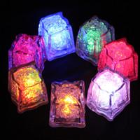Simulation Eiswürfel Led Beleuchtung Polychrome Flash-Eis-Flüssigkeitssensor Glühend Eiswürfel Submersible Lichter Dekor Light Up Bar Club Hochzeit