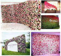 Rose artificiale 40x60cm su misura Colori di seta della Rosa della decorazione del fiore parete Wedding fondale artificiale parete del fiore EEA1587 Romantico