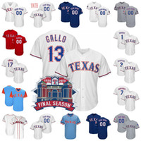 Final Season Texas Joey Gallo Jersey Rangers Elvis Andrus Ry...