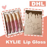 2019 New Pink Lip Gloss 4 Color Set Kylie Makeup Lipstick Matte Velvet Verano Hidratante Natural DHL