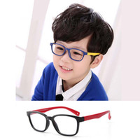ad01e45b6934 Wholesale kids eyeglasses silicone for sale - Group buy Square Optical  Flexible Super Light Kids frames