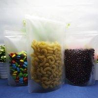 100 pz / lotto sacchetto di immagazzinaggio polvere di carbone, 15 * 22 cm trasparente opaco stand up sacchetto di plastica chiusura a cerniera, colorante tinto imballaggio doypack