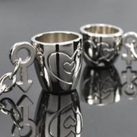파티 호의 1 개 아연 합금 슬리버 사랑 컵 커플 키 체인 결혼식 호의 및 선물 기념품 obsquios boda