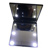 Make Up specchio per modo delle donne cosmetici tasca piegante portatile compatto con 6 luci LED attrezzo di trucco migliore regalo