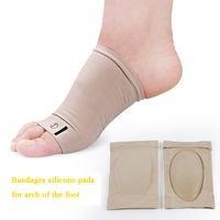 Bandage Silicone coração casulo arco do pé almofada do pé palma pad pad plana dor metatarso arco alto coração pé massagem