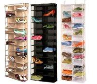 الأسرة المفيد 26 جيب الحذاء الرف التخزين المنظم حامل، قابلة للطي باب خزانة معلقة في الفضاء التوقف مع 3 اللون