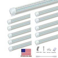 V Shaped Integrated LED Tubes Light 4ft 5ft 6ft 8ft LED Tube T8 36W 72W Double Sides Bulbs Shop Lighting Cooler Door Light
