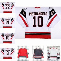 Niagara IceDogs 22 Drew Schiestel 10 Alex Pietrangel 21 Foreman 8 Alex Frie Herren Womens Youth Cusotm Jeder Name Jedes Nummernhockey-Jersey