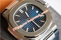 Sıcak Satış Mens 40mm 5711 / 1A-001 Miyota CAL.324 S C Hareketi Deri Şeffaf Geri Mekanik Otomatik Saatler En İyi Kalite