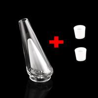 Adjunto pipas de agua de cristal 2 Inserte Tazón de cerámica Tabaco agua de tuberías de vidrio Bong reemplazo Dab Rig fumadores Enail