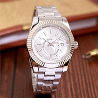 2019 Relogio Masculino New Silver Wristwatch Mens Designer Watches Montre Automatique Hommes Casual Date Date Fashion Or Argent Horloge