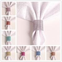 25 색 천으로 링 사용자 정의 색상 냅킨 냅킨 링 호텔 결혼식 크리스마스 파티 테이블 장식 액세서리 라인 석