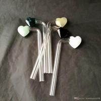 Правый угол персик сердца горшок, оптовые стеклянные бонги, стекло кальяна, дым трубы аксессуары
