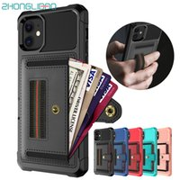 Armor Wallet Case for IPhone 11 Pro Max Xs Max Xr 8 7 6 6s X...