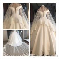 Vero campione Abiti da sposa abiti da sposa avorio Plus Size Fat Dubai Vendita 2018 Nuovi abiti da sposa da sposa monder satinato