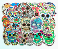 50 stks Skull Stickers Pack Motorcycle Auto Stickers Mexicaanse Dag van de Dode Sticker Bomb Waterfles