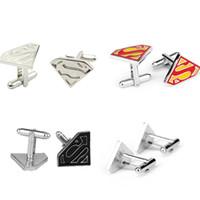 High-End-Superman niedlichen Design Herren Manschettenknöpfe Großhandel Fabrik direkt Verkauf Hemd Taste Jersey Manschettenknöpfe