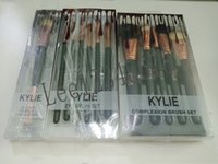 hot Kylie black makeup brushes cosmetics Complexion Brush Se...