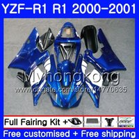 Carrosserie pour YAMAHA YZF 1000 YZF R 1 YZF-1000 YZFR1 00 01 Cadre 236HM.6 YZF-R1 00 01 Carrosserie Crosse Bleue YZF1000 YZF R1 2000 2001 Carénage