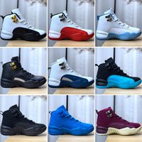 Kinder-Baby-winterfest 12 Gym Red 12s College-Marine-Jungen-Mädchen-Kinder Basketballschuhe Michigan WINGS Bulls Flu Game Master Taxi Trainer Sneaker