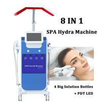 Microdermabrasión profesional Máquina de tratamiento de acné facial Oxígeno Jet Spray Hydra Facial Diamond Peel Agua Microdermabrasión Cuidado de la piel