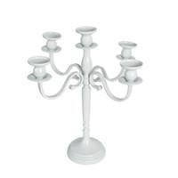 Старинная металлическая колонна в виде белого канделябра, украшающая подсвечник, высотой 40см (продается только в США)