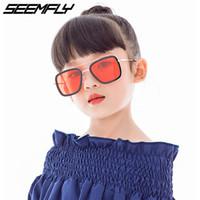 Seemfly ساحة النظارات الشمسية الاطفال الإطار المعدني المضادة للأشعة فوق البنفسجية نظارات شمسية للبنين بنات نظارات الأطفال Oculos UV400 نظارات ظلال