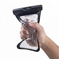 Водонепроницаемый мешок Открытый четкий ПВХ пластиковый сухой чехол для мобильного телефона Спортивная защита Универсальный сотовый телефон Крышка плавание Защищать для iPhone 11 X XS MAX 8 7 6 S 5 PLUS Водонепроницаемое
