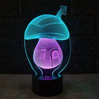 Luce sveglio creativo Mushroom LED Night PER BAMBINI Bambini Lampada da comodino multi colore acrilico Touch Control Sensor lampada libera la nave