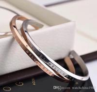 nuovo bracciale bracciali in oro rosa d'argento braccialetto in acciaio inox 2018 100% donne del braccialetto ed il braccialetto uomini amante regalo pulsera con box