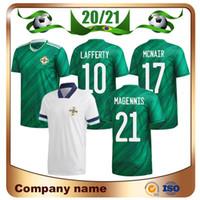 20/21 Irlande du Nord Équipe de football National Home Blue Soccer Jersey 2020 # 5 Evans # 10 Lafertis Soccer Shirt # 8 Uniforme de football Davis